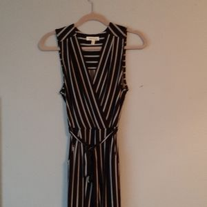 Black and white one piece jump suit